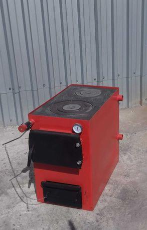 Котел длительного горения 20 кВт, Solarius Эко 20 красный