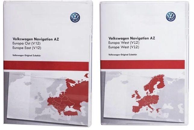 SD Card GPS Navigatie VW RNS 315 Europa Est + West 2020-2021
