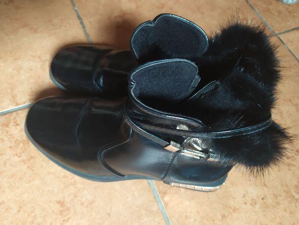 Ботинки на осень в школу для девочки, размер 35