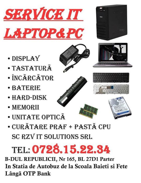 Service IT/Reparatii Laptop/Calculator/Tableta/Instalari Windows/PS4 Ploiesti - imagine 1