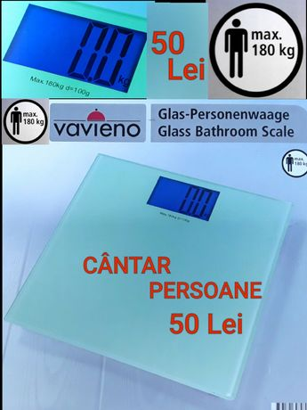 CÂNTAR ELECTRONIC DIGITAL pt persoane maxim 180 Kg Afisaj mare LCD NOU