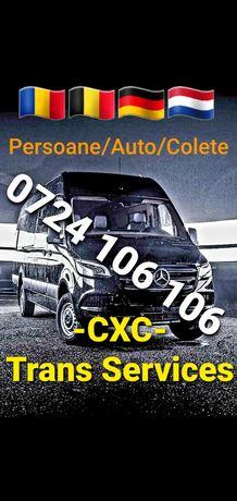 TRANSPORT  Persoane Colete Auto: Austria Germania Belgia Olanda