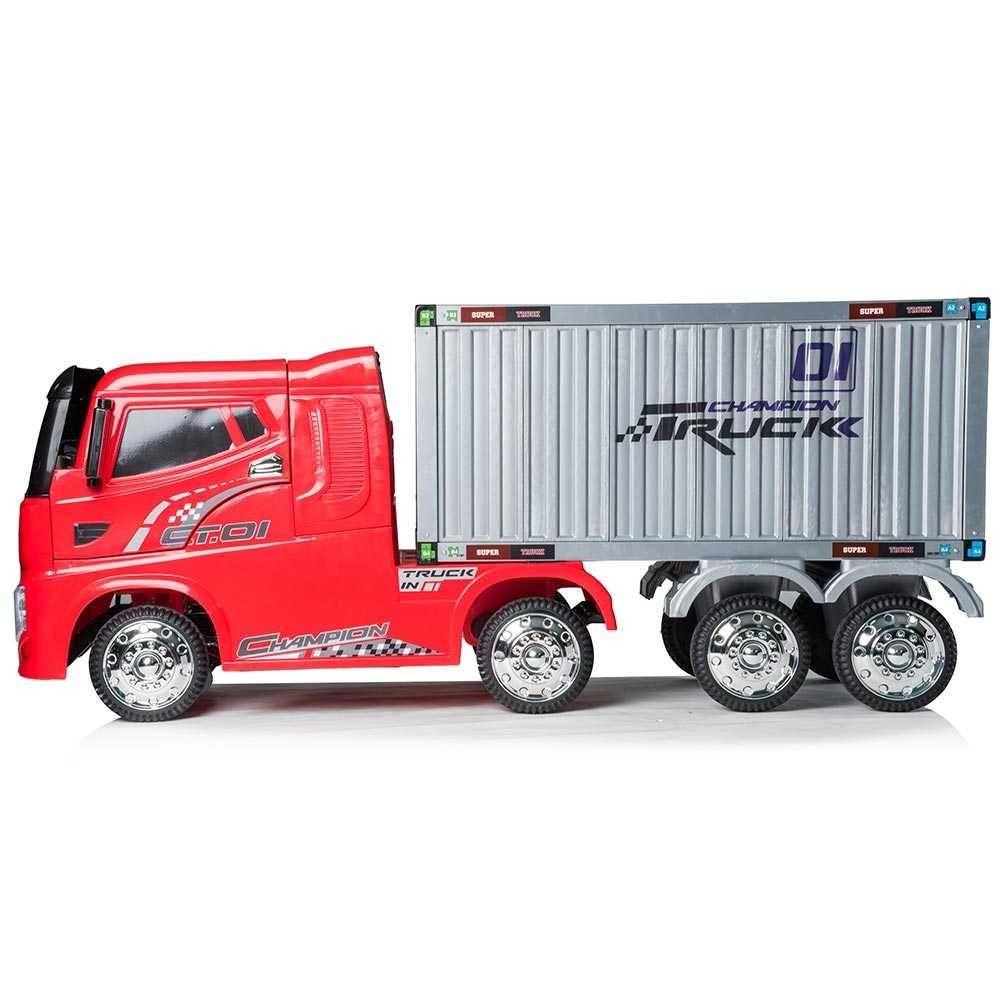 Autocamion cu continer pentru copii pe baza de acumulator