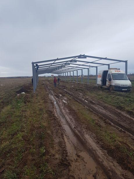 structuri metalice ferme stâlpi pane Anexe depozitare garaje spălători