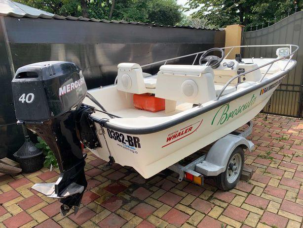 Barca Boston Whaler 130 Sport + Motor Mercury 40cp (4 timpi) + Peridoc