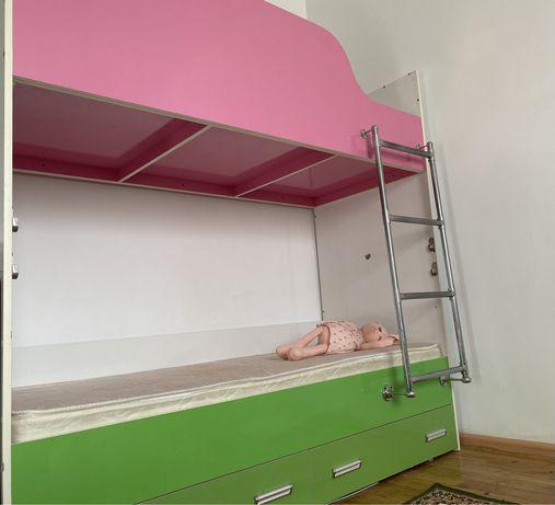Детская двухъярусная Кровать с ортопедическими матрасами