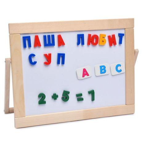 латинский алфавит маркерная доска азбука магнит русский английский мел