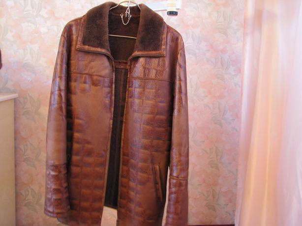 Куртка- пропитка из натуральной кожи производство Италия и др. одежда