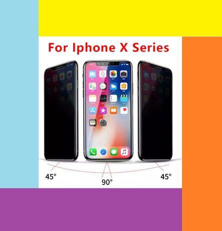 Folie privacy iPhone XR/iPhone 6/7/8 Plus, X/XR/Xs Max, 11, 11 Pro/Max