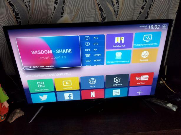 Продам телевизор с гарантией без пульта размеры 73 на 43 смарт тв
