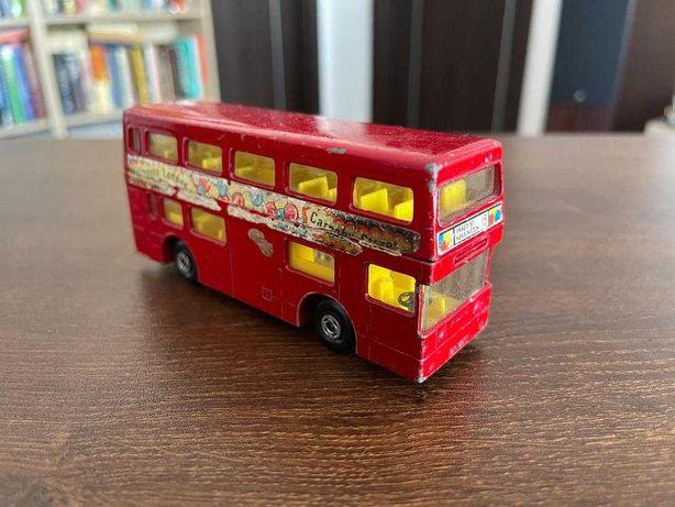 "Macheta autobuz supraetajat ""The Londoner K-15"" Matchbox original"