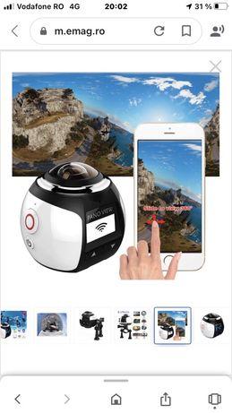 Camera video VR, 3D, panoramica 360, HD, WIFI, cu conexiune pentru tel