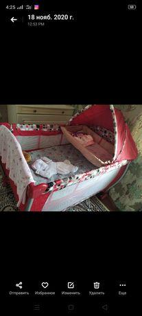 Продается детская кроватка два в одном манеж