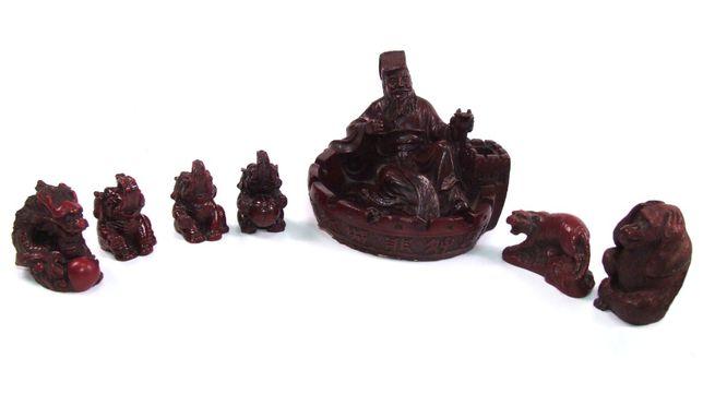 SET 7 figurine - statuete asiatice de colectie, stare perfecta, 6 poze