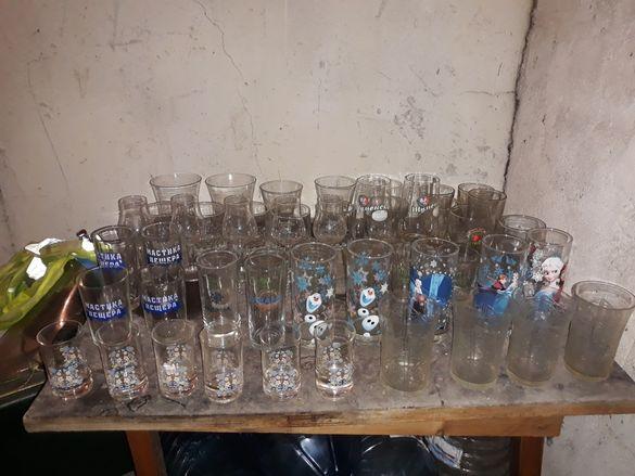 Стъклени чаши за вода бира и алкохол по 50стотинки за 1бр и фруктиери