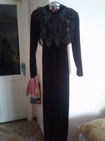 Женская одежда Платье бархатные вечернее с болеро кружевным