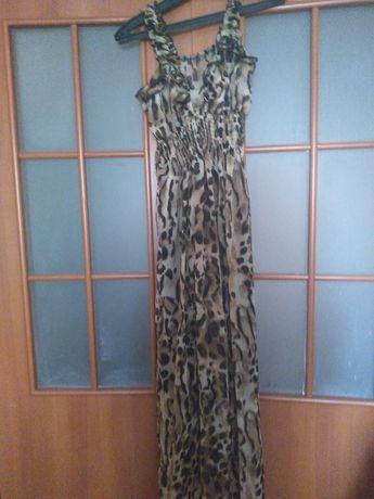 Платье  леопардная