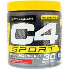C4 Sport, предтренировочный комплекс , фруктовый пунш США