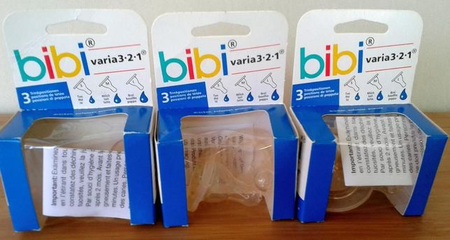 2 Tetine silicone bibi NUK varia 3 2 1 anticolici