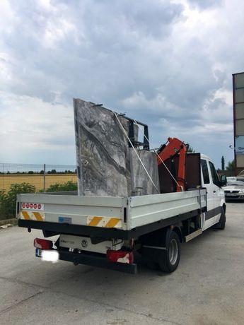 Transport MARFA camion cu macara