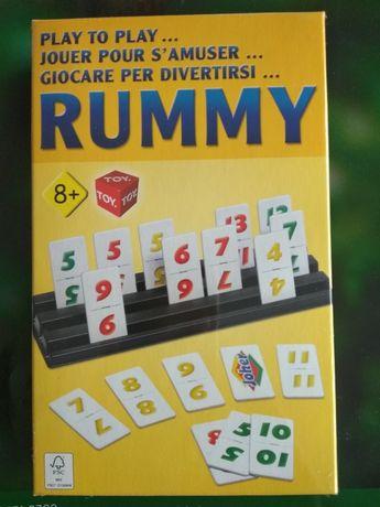 Joc Remi (RUMMY). 108 piese plastifiate. Și alte jocuri de societate