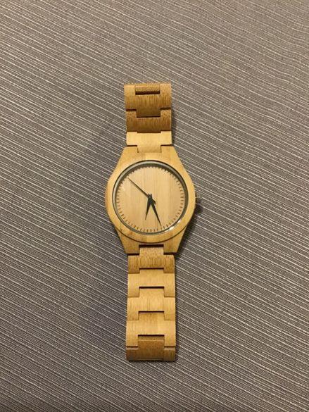 Дървен ръчен часовник! НОВ!