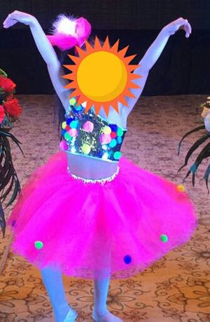 Яркий костюм танцовщицы