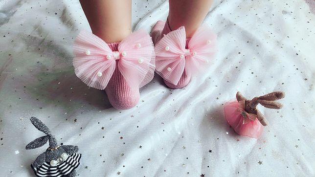 Sosete Princess cu funda si perle pentru copii 1-3 ani