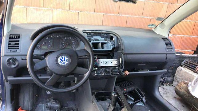 Plansa bord VW Polo 9n 9n3 2002-2009 negru originala, Airbag