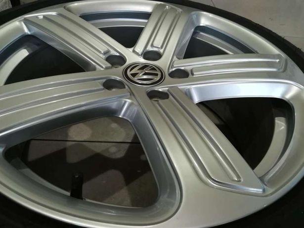 "Jante originale VW Golf VII, R, model CADIZ, r18"", anvelope de iarna"
