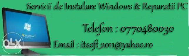 Servicii de instalare windows si reparatii pc