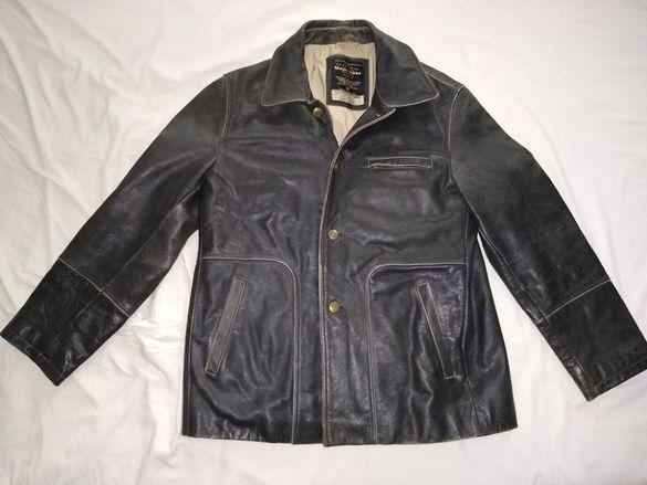 Винтидж кожено мъжко яке р-р L Mays & Rose Leather Jacket