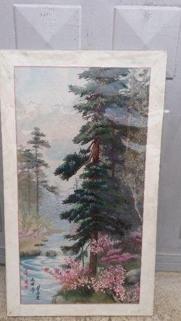 Картина гоблен водопад