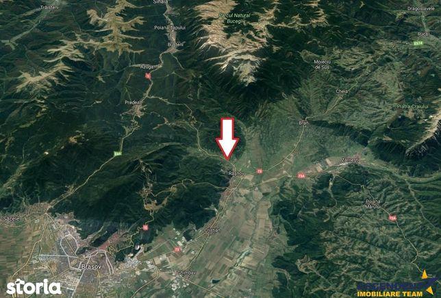 1.600 mp teren  la DN 73 A - in frumoasa zona turistica Rasnov -  Para