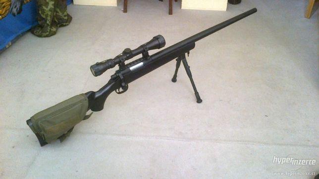Pusca METAL!! Ieftina PUTERNICA Sniper Cu Aer Comprimat Airsoft 185m/s