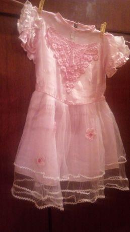 Платье нарядное (новое) для девочки 5-7лет.
