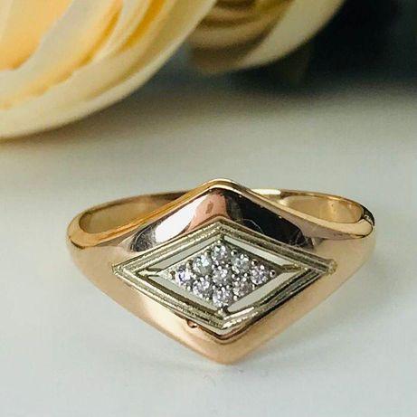 0% Кольцо с камнями , золото 585 Россия, вес 0.98 г. «Ломбард Белый»