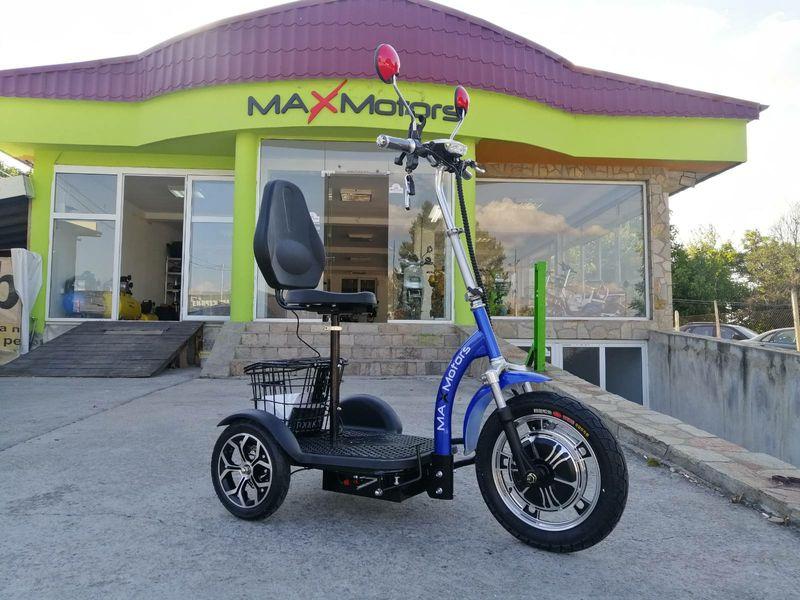 Представяме ви модел Max Motors А3 с цяла табла BLUE  триколка на Ток гр. Хасково - image 1