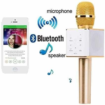 Microfon wireless cu boxa incorporata, cu bluetooth si usb