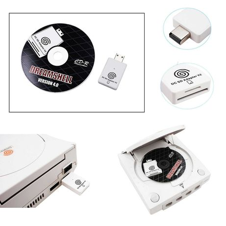 Dreamcast Soft Mod cu GD Disc si Adaptor SD/MicroSD