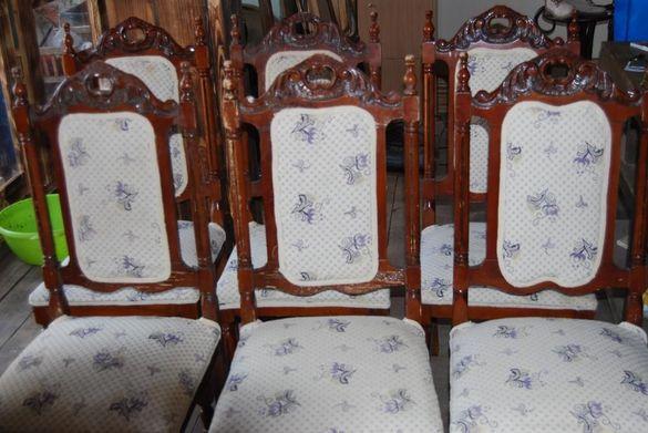 барокови столове с дърворезба