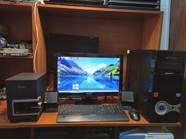 """Компьютер полный комплект. Core i3/монитор 20"""". В отличном состоянии."""