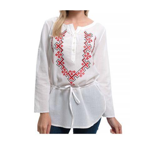 Нова дамска риза-туника с копчета, щампа Шевица, България, Етно мотив
