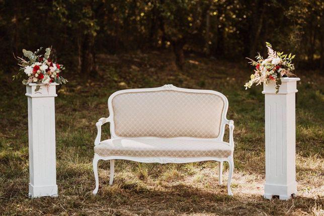 Bancuta, scaune, decoratiuni pentru nunti, botezuri, jocuri