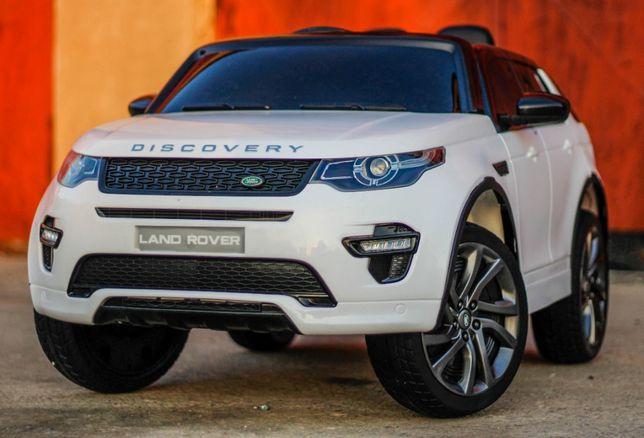 Masinuta electrica Land Rover Discovery cu Touchscreen Mp4 #Alb