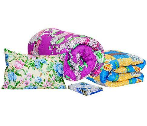 Комплекты рабочие для строителей - подушка, одеяло рабочее, матрас.