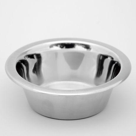 Миска металлическая для кошек и собак