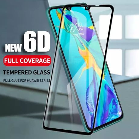 5D Стъклен протектор за Huawei P40 Lite P30 P20 Y5 Y6 Y7 2019 Pro Mate
