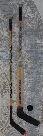Хоккейные 2 клюшки с шайбой все за 7900 тг