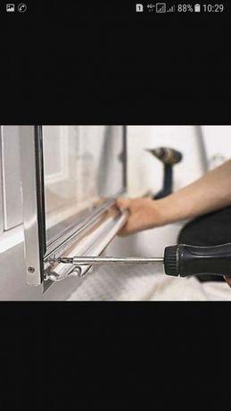 Ремонт пластиковых алюминиевых окон и дверей, установка сложных замков